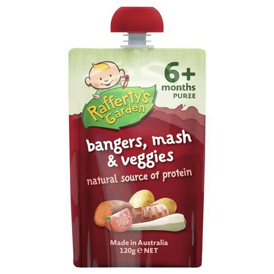 Rafferty's Garden Food 6 Months Bangers Mash & Veggie Puree