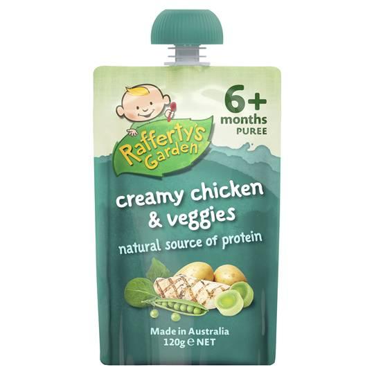 Rafferty's Garden Food 6 Months Creamy Chicken & Veggie Puree