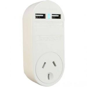 Jackson Adaptor 240v 2x Usb Charging Outlet