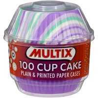 Multix Patty Pans Cup Cake Cases Printed & Plain