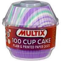 Multix Patty Pans Cup Cake Cases Printed & Plain