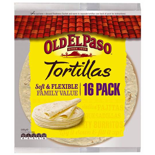 Old El Paso Tortillas Family Pack