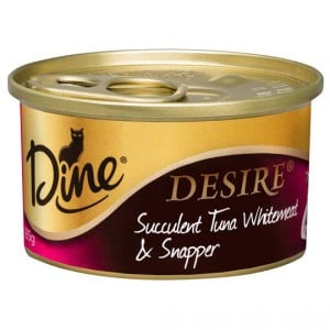 Dine Desire Adult Cat Food Tuna Whitemeat & Snapper
