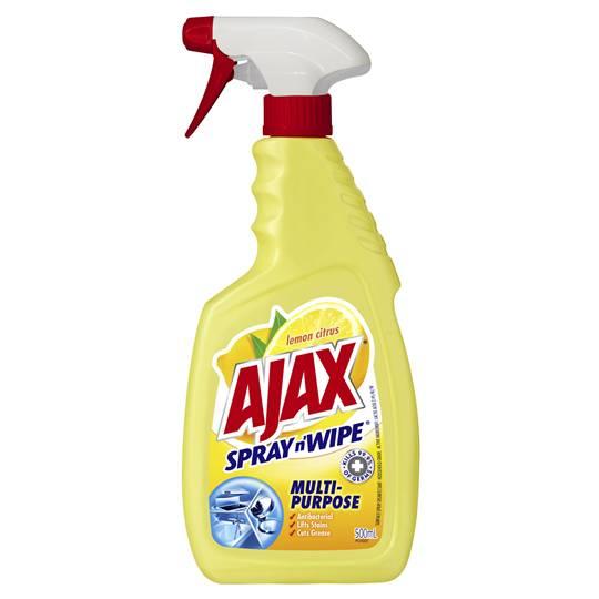 Ajax Spray N Wipe Multipurpose Lemon Citrus 5 In 1 Trigger