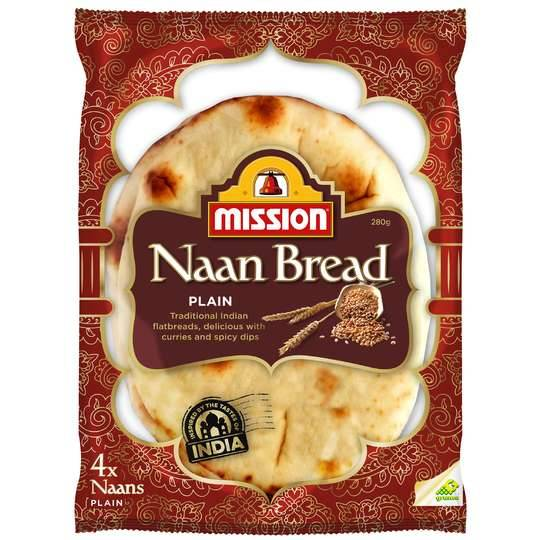 Mission Naan Bread Plain