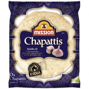 Mission Bread Chappati Garlic