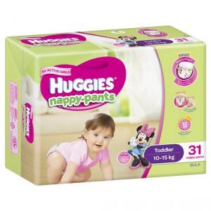 Huggies Nappy-pants Toddler Girl 10-15kg Bulk