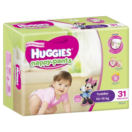 Huggies Nappy-pants Toddler Girl 10-15kg Bulk