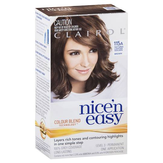 Clairol Nice N Easy Permanent Hair Color Kit 115a Lighter Golden Brown