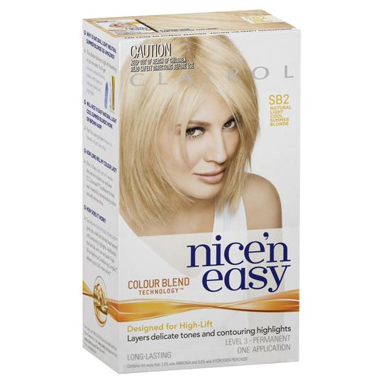 Clairol Nice N Easy Sb2 Natural Light Cool Summer Blonde