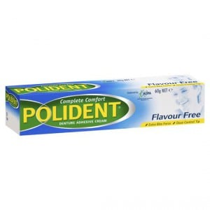 Polident Denture Care Adhesive Cream Flavour Free