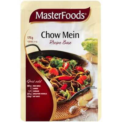 Masterfoods Recipe Base Chow Mein