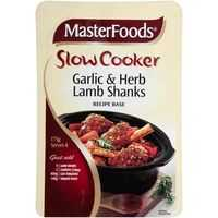 Masterfoods Slow Cooker Garlic & Herb Lamb Shanks