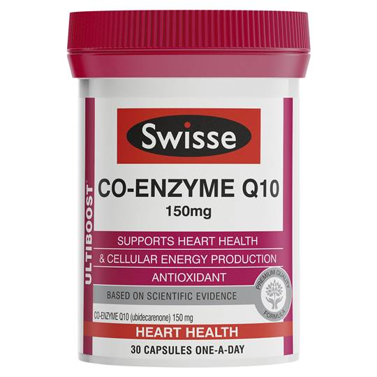 Swisse Ultiboost Co Enzyme Q10 150mg Caps