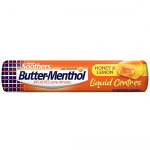 Allen's Butter-menthol Throat Lozenge Liquid Centre Honey & Lemon