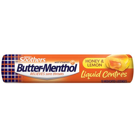 Allen's Butter-menthol Throat Lozenge Liquid Centre Honey & Lemon