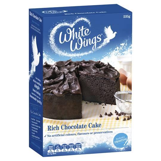 White Wings Cake Mix Rich Chocolate Cake