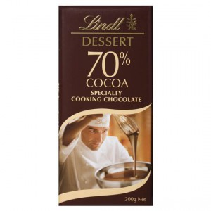 Lindt Dessert Specialty Cooking Chocolate 70% Cocoa