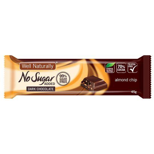 Well Naturally No Sugar Added Almond Chip Bar
