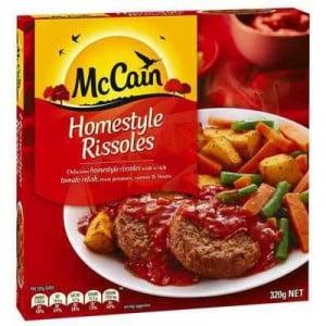 Mccain Dinner Homestyle Rissoles