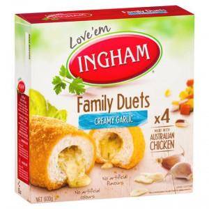 Ingham Crumbed Chicken Duet Creamy Garlic