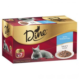 Dine Adult Cat Food Saucy Morsels With Ocean Fish