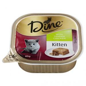 Dine Kitten Food With Tender Chicken