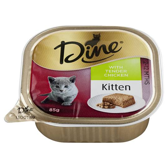 Dine Kitten Food With Tender Chicken
