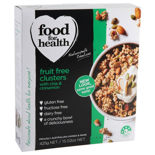 Food For Health Chic & Cinnamon Clusters Fruit Free Clusters