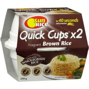 Sunrice Quick Cups Microwave Fragrant Brown Rice