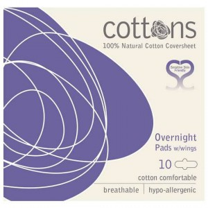 Cottons Overnight Pads With Wings