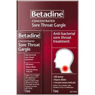 Betadine Throat Gargles Concentrated