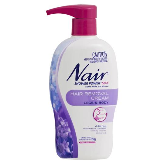 Nair Hair Removal Cream Shower Power Max
