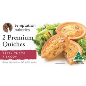Temptation Quiche Tasty Cheese & Bacon