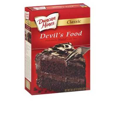 Duncan Hines Cake Mix Devils Food