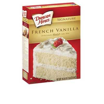 Duncan Hines Cake Mix French Vanilla