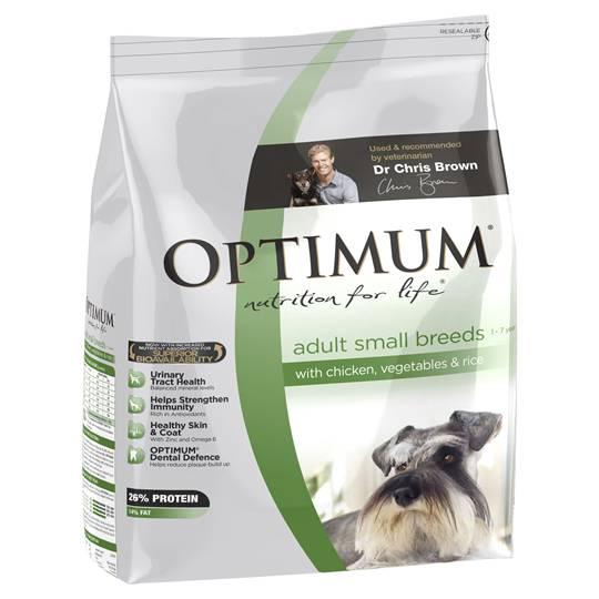 Optimum Adult Dog Food Dog Small Chicken Veg & Rice