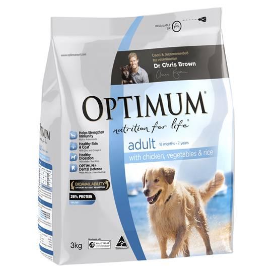 Optimum Adult Dog Food Chicken Veg & Rice