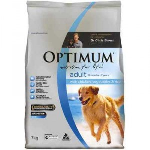 Optimum Adult Dog Food Chicken Vegetable & Rice