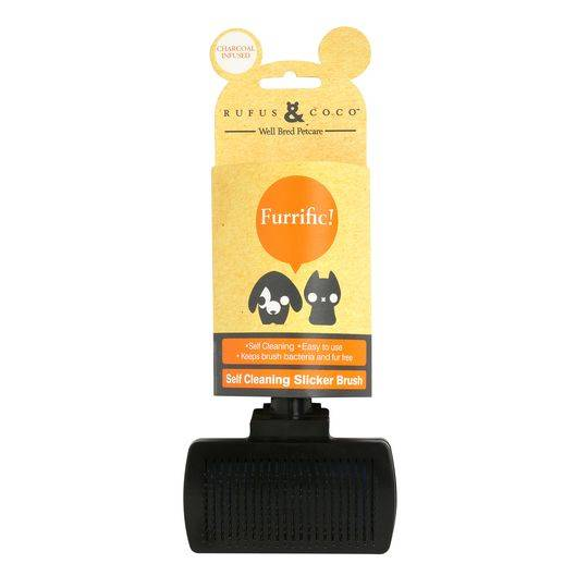 Rufus & Coco Self Cleaning Slicker Brush Slicker Dog Brush