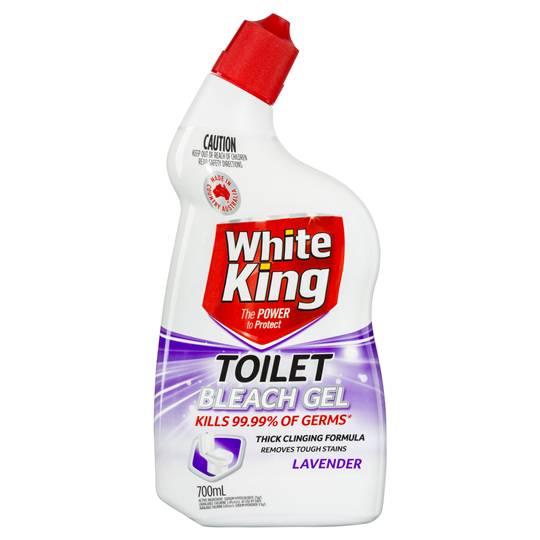White King Power Clean Toilet Cleaner Bleach Gel Lavender