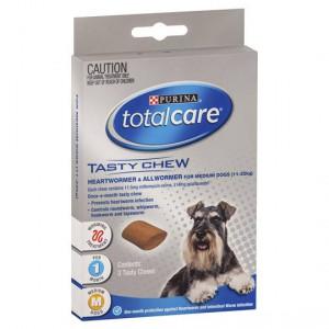 Total Care Treat Tasty Chew Worm Medium Dog