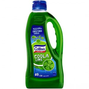 Cottees Lime Coola Cordial