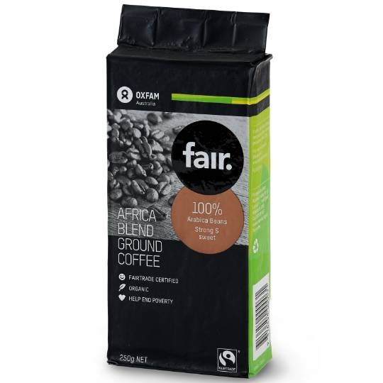 Oxfam Organic Fair Trade Africa Blend Ground Coffee
