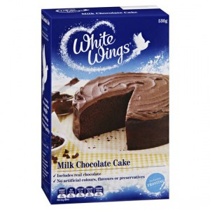 White Wings Cake Mix Milk Chocolate