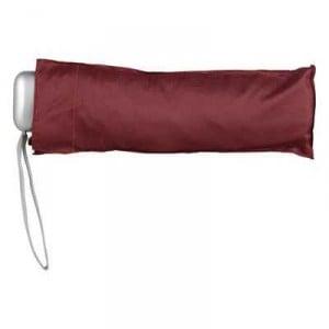 Ladies Weather Protection Flat Umbrella Burgundy