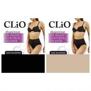 Clio Hi Waist Control Underwear Black & Nude 10-12