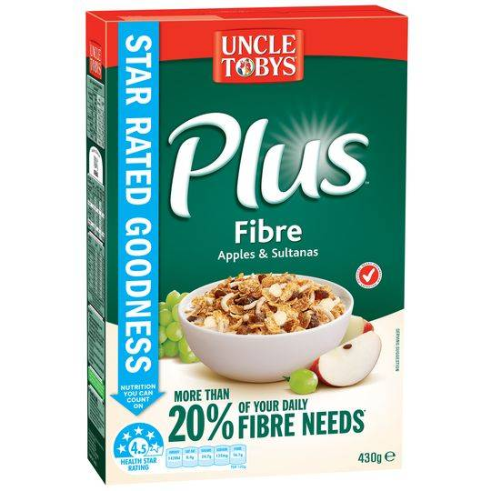Uncle Tobys Plus Fibre