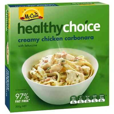 Mccain Healthy Choice Chicken Carbonara
