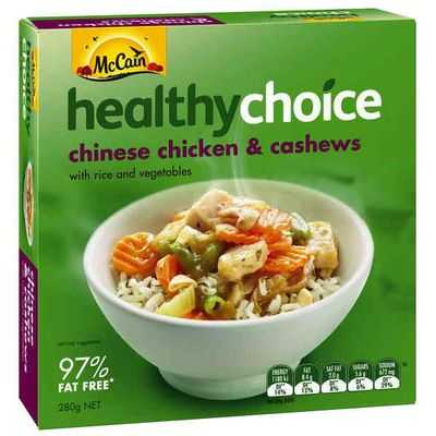 Mccain Healthy Choice Chinese Chicken Cashew
